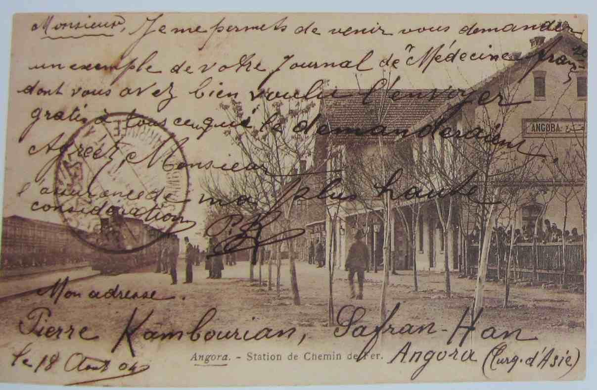 carte postale gare Angora